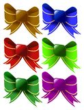 Color bows and illustration Royalty Free Stock Images