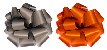 Color Bows On White Stock Images