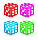 Color Box Dice 3D Illustration Royalty Free Stock Photography