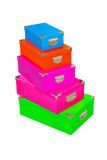 Color boxes Royalty Free Stock Photography