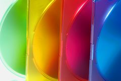 Color boxes. For computer compact disc Stock Photo