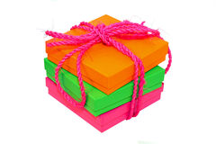 Color boxes Stock Photography