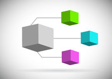 Color boxes diagram illustration design Royalty Free Stock Images