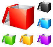 Color boxes. Stock Image