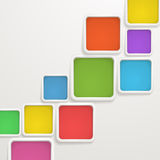 Color boxes. Template for a text Stock Images