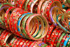 Color bracelets. A small crafts stalls Stock Images