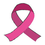 Color breast cancer ribon image. Design icon Stock Photography