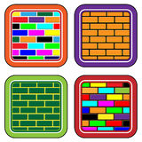 Color brick buttons for web devices and the inter Royalty Free Stock Photo