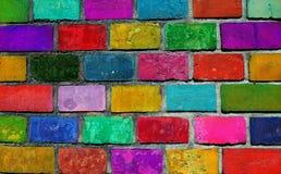 Color brick wall Royalty Free Stock Photo