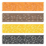 Color brick wall textures Royalty Free Stock Photos
