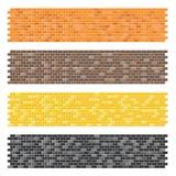 Color brick wall textures Royalty Free Stock Photos