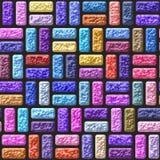 Color bricks stone seamless pattern texture Stock Photos