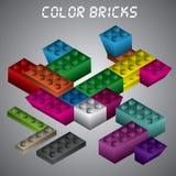 Color Bricks Stock Photo