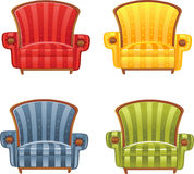 Color bright armchair stock photos