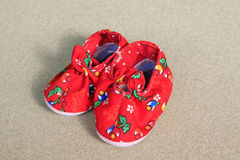 Color bright children shoes Stock Photo