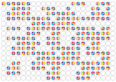 Color bright circles background Royalty Free Stock Image