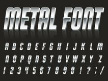 Font style 80 s. Color, bright font in the old style. Vector, vintage alphabet. Style 80 s, 90 s retro posters. Color gradient. Metal font Stock Image