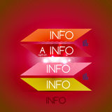 Color bright glossy lines - banner templates Stock Images