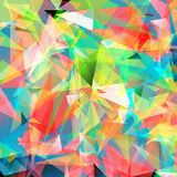 Color bright triangle polygon background Abstract. Artistic Color bright triangle polygon background or frame. Colorful Abstract Geometrical Backdrop. Geometric Royalty Free Stock Image