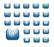 Color brillante del azul de los botones Imágenes de archivo libres de regalías