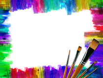 Color brush frame Stock Photo