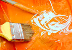 Color brush paint Stock Image