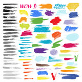 Color brush stroke vector set Stock Photo