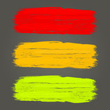 Color brush strokes template. Color brush strokes vector template  on dark grey background Stock Images