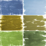 Color brush textures Stock Photos