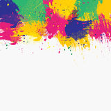 Color brush top. Vector watercolor background. Colorful abstract texture. Vector design elements. Grunge color background. Vector watercolor splash Stock Illustration