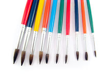 Color brushes painting art set Stock Photos