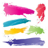 Color brushstroke. A vector color brushstroke for graphic layout Stock Photos