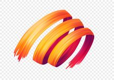 Color brushstroke oil or acrylic paint design element. Vector illustration vector illustration