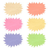 Color bubble tag recycled paper. Royalty Free Stock Image