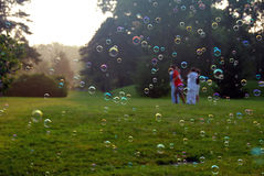 Color bubbles. Colorful bubbles of life in the play ground Stock Images