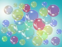 Color bubbles Stock Image