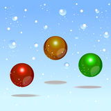 Color bubbles christmas design element Royalty Free Stock Image