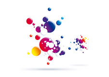 Color bubbles texture Stock Photo