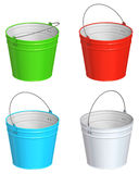 Color bucket Royalty Free Stock Image