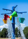 Bucks Off Water. Color bucks of cool water at a fun water park Royalty Free Stock Photos