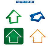 Color building and house icon set, Stock Image
