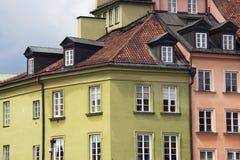 Color buildings facades Royalty Free Stock Photo