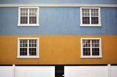 Color buildings and windows Royalty Free Stock Photography