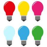 Color bulbs  Stock Photography