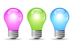 Color bulbs Royalty Free Stock Images