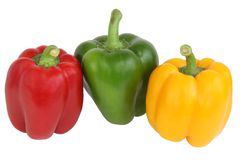 Color bulgarian peppers Royalty Free Stock Images