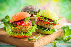 Color burgers stock photography