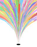 Color burst. Abstract editable vector design of a colorful fountain royalty free illustration