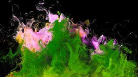 Color Burst - colorful pink green smoke explosion fluid particles alpha matte