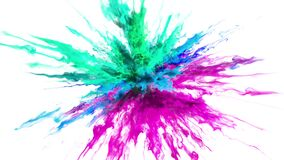 Color Burst - colorful smoke powder explosion fluid ink particles alpha matte